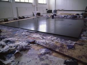 failed floor 2007 oil on aluminium 400 x 450 cm