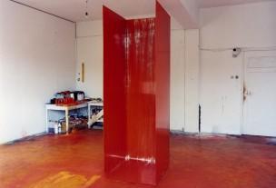 room 2 2003 oil on aluminium 247 x 91 x 78 cm Collection Province of Limburg Maastricht
